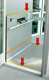 Sensitive safety edges or photo cell protection