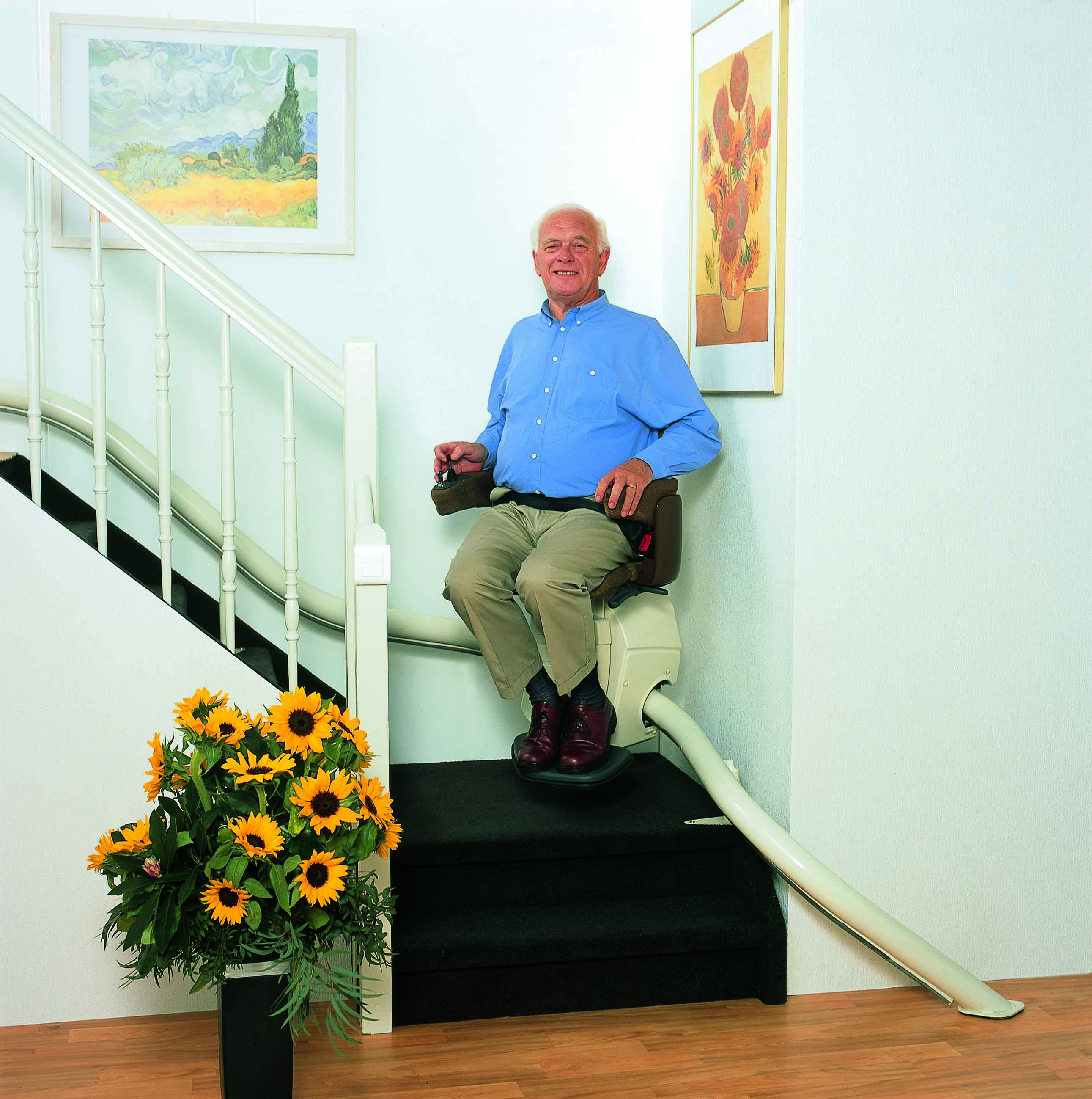 Curved Chair Stairlift by Gara
